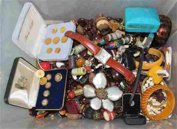 Lot of Costume Jewelry Swatch Bell & Rose Watches