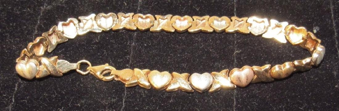 10k Gold Heart Tennis Bracelet