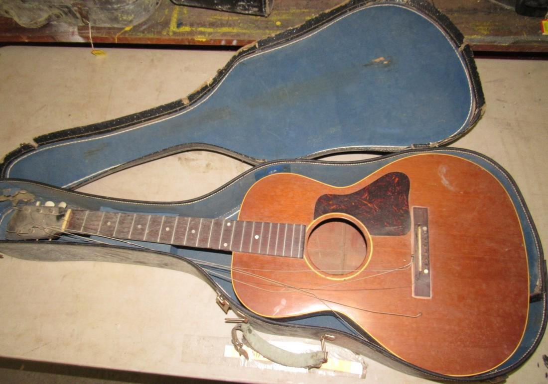 Vintage Gibson Acoustic Guitar On Liveauctioneers