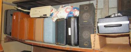 Vintage Suitcases Brother Typewriter Speakers & Misc
