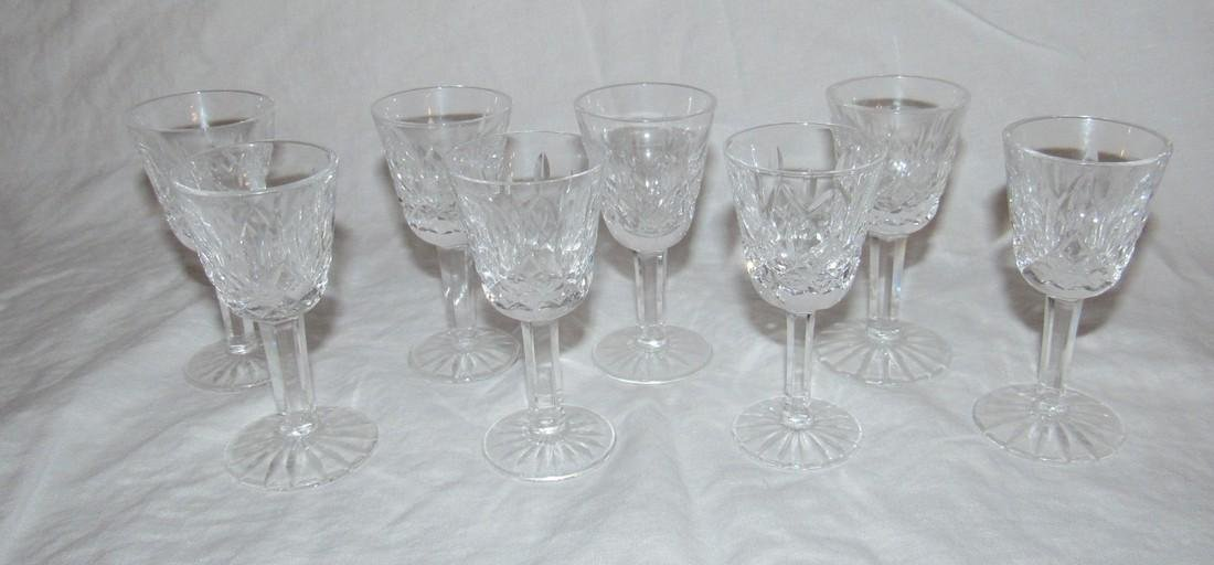 8 Waterford Crystal Cordial Glasses