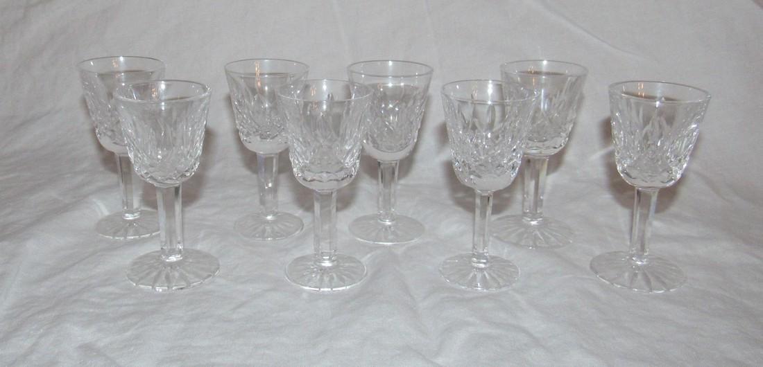 8 Waterford Crystal Cordial Glasses - 2