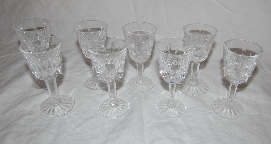 8 Waterford Crystal Cordial Glasses - 3
