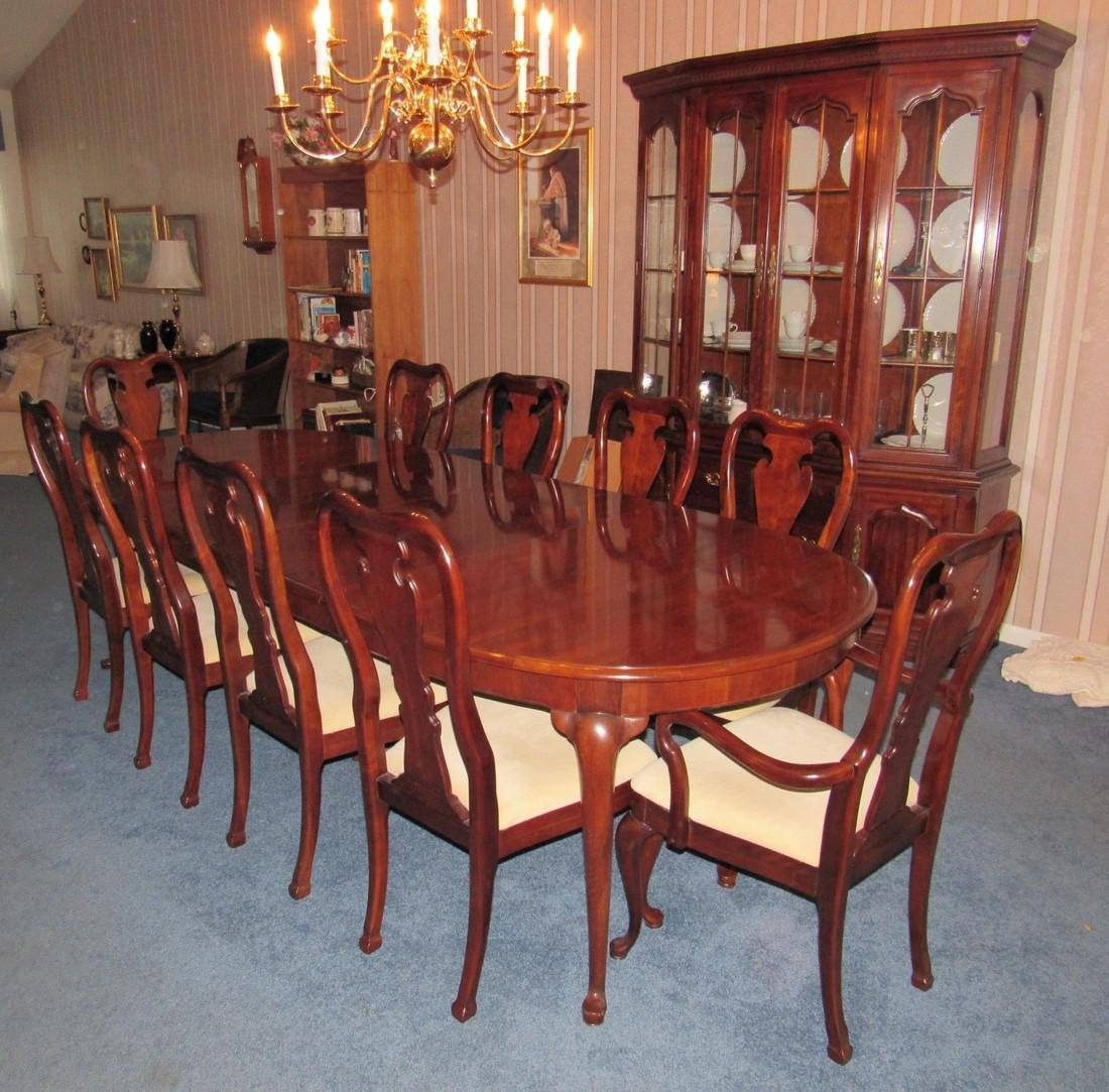 Thomasville Hutch Table & 10 Chairs - 2
