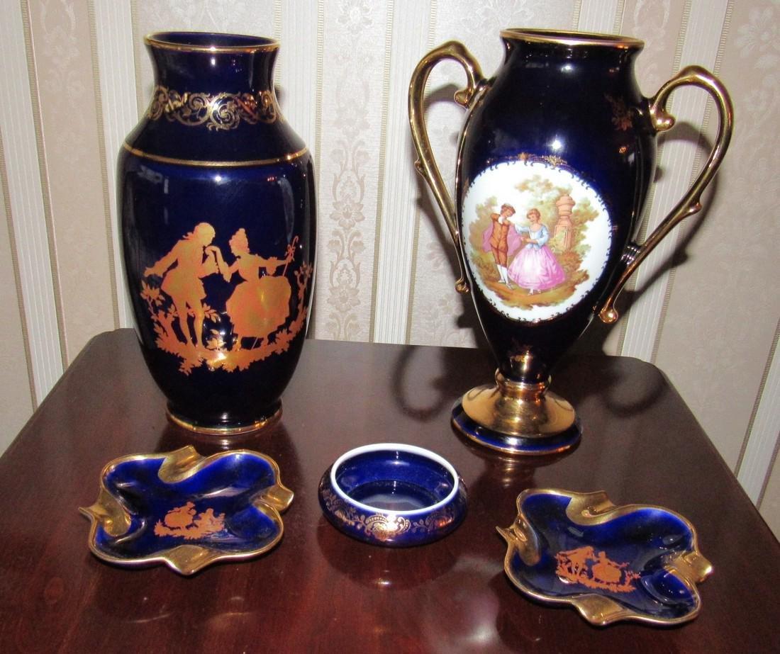 Limoges Vases & Ashtrays