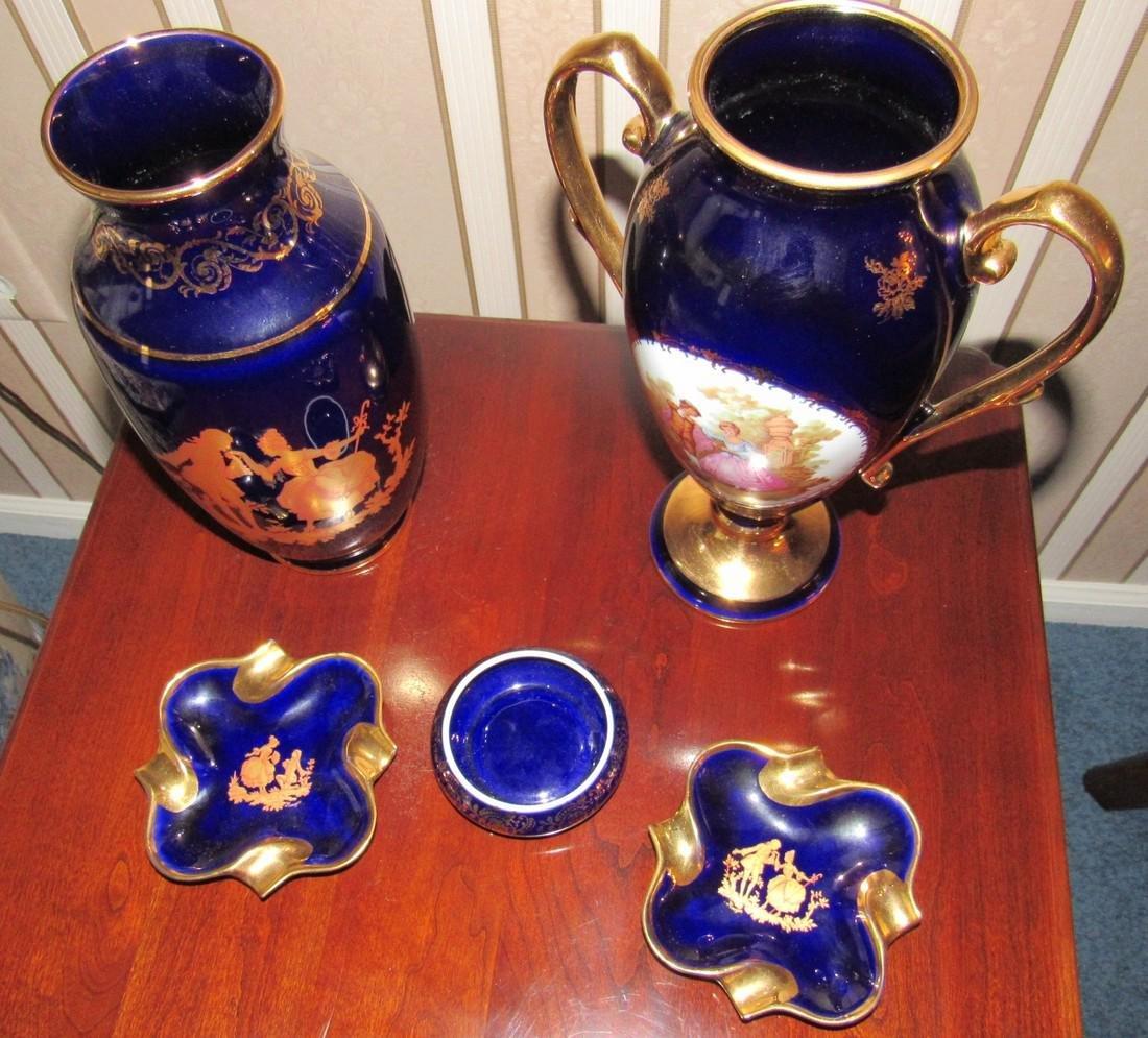 Limoges Vases & Ashtrays - 2