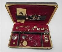 Sterling Pin 10kt Gold Locket Misc Jewelry Masonic
