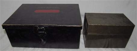 First National Gold Bank Deposit Box & Index Card Box