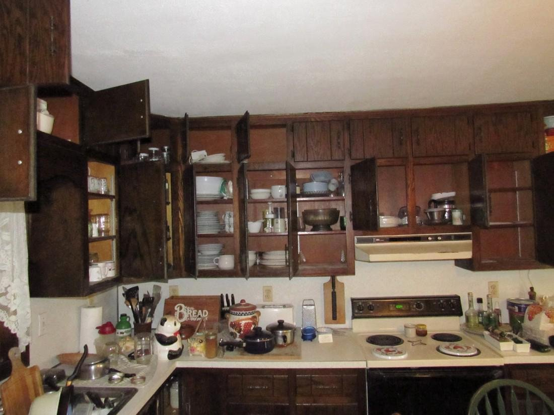 Contents of Kitchen Cabinets & Counter