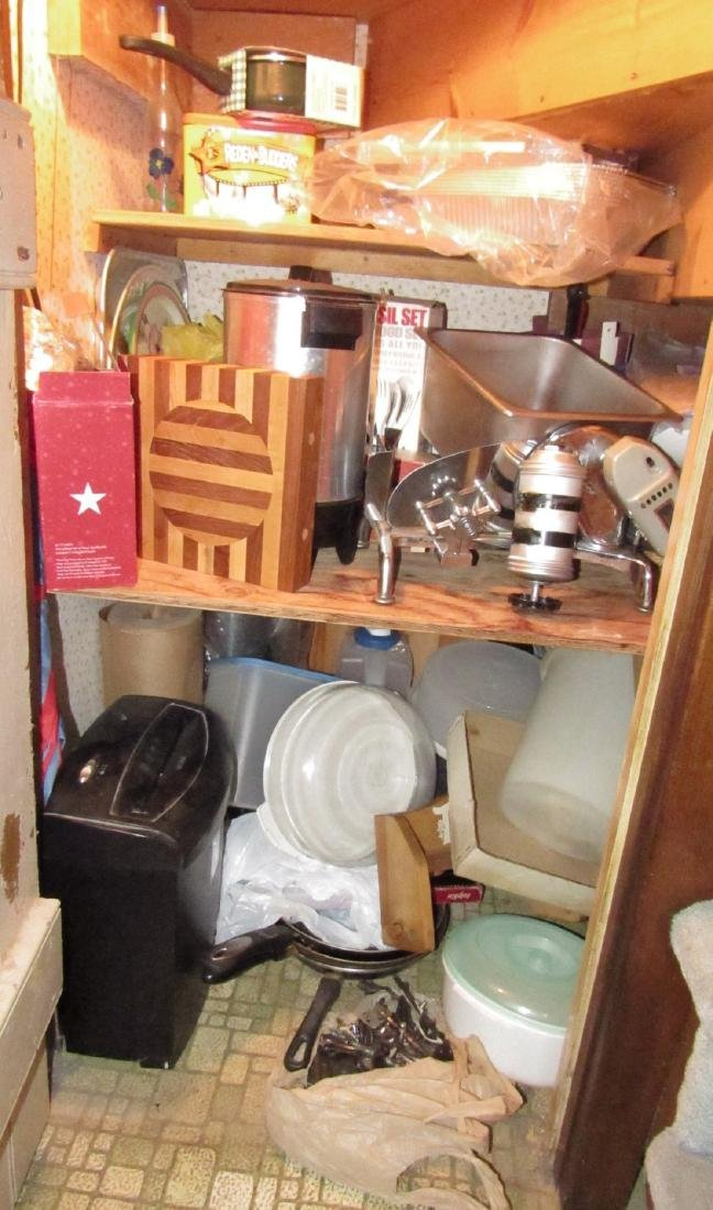Contents of Closet Cutting Board Meat Slicer