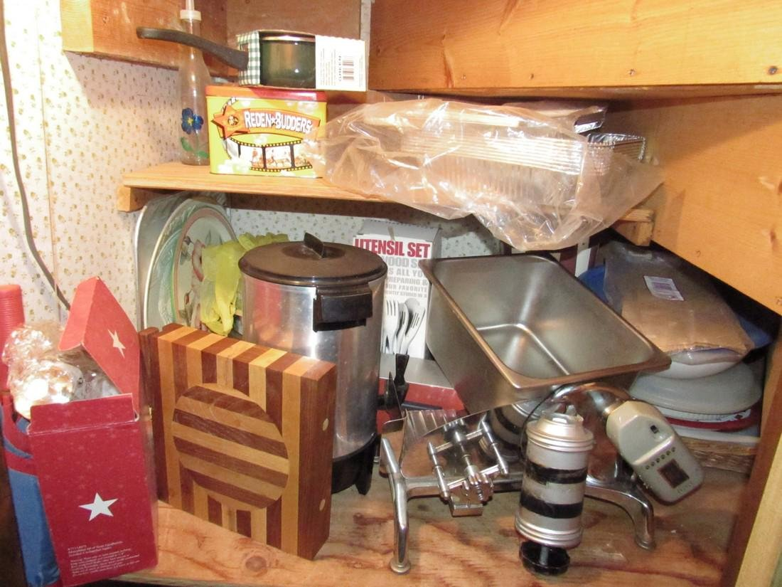 Contents of Closet Cutting Board Meat Slicer - 2