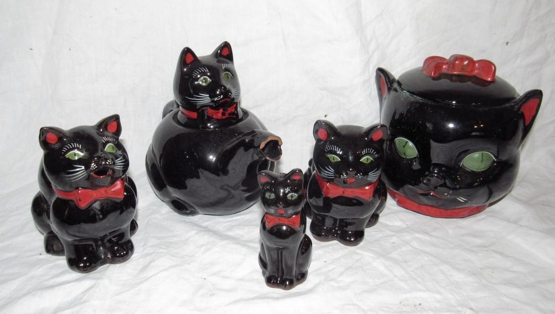 Cat Cookie Jar Creamer & Misc