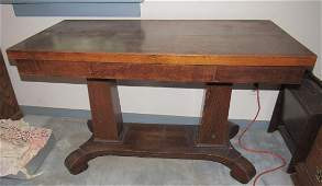 Oak One Drawer Library Table