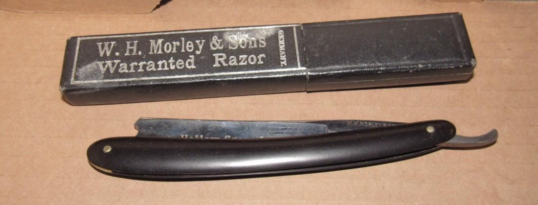 Carved Cork Screw Straight Razor Ronson Lighter - 2