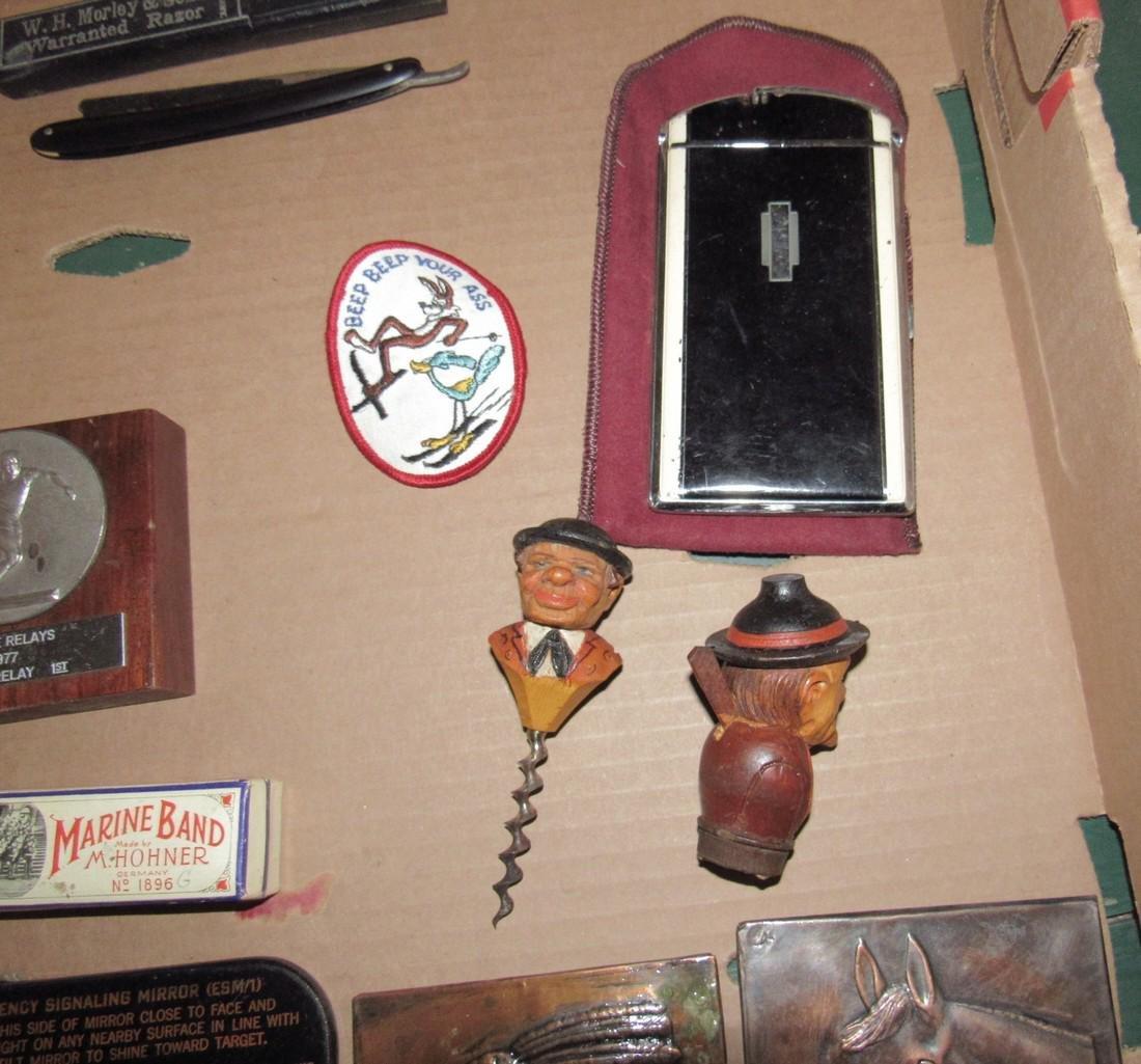 Carved Cork Screw Straight Razor Ronson Lighter - 5