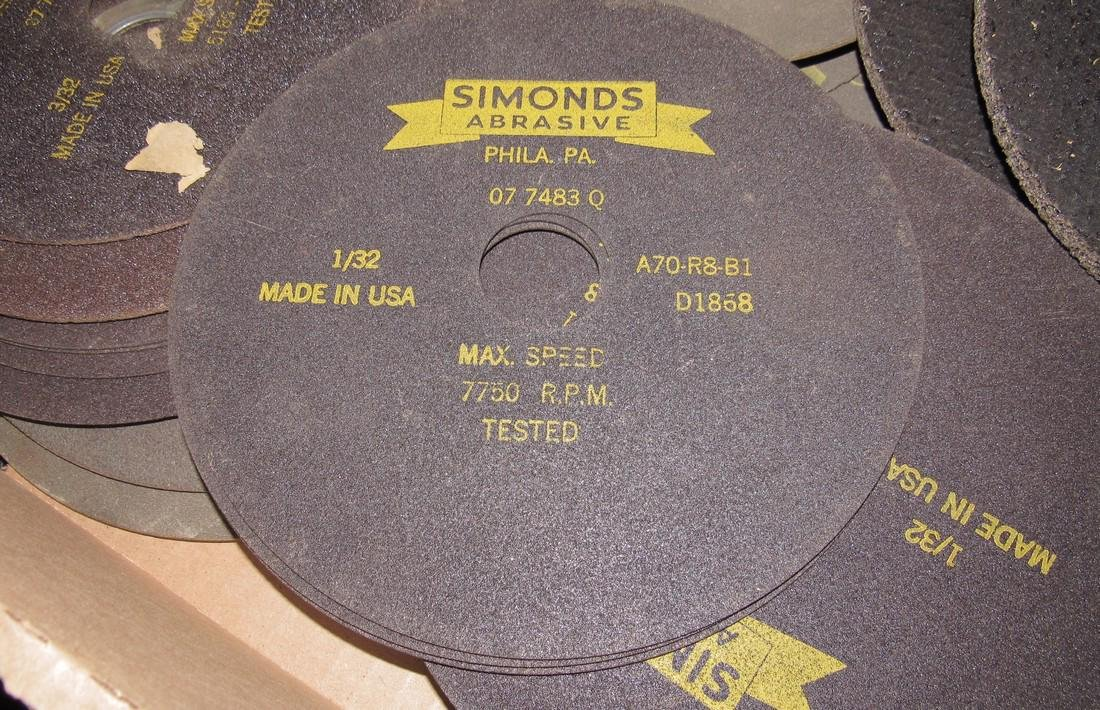 "Simonds Norton Cutting Blades Discs 6"" & 7"" - 2"