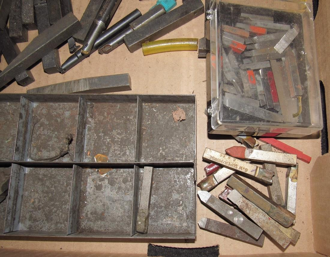 Large Lot of Lathe Cutters - 4