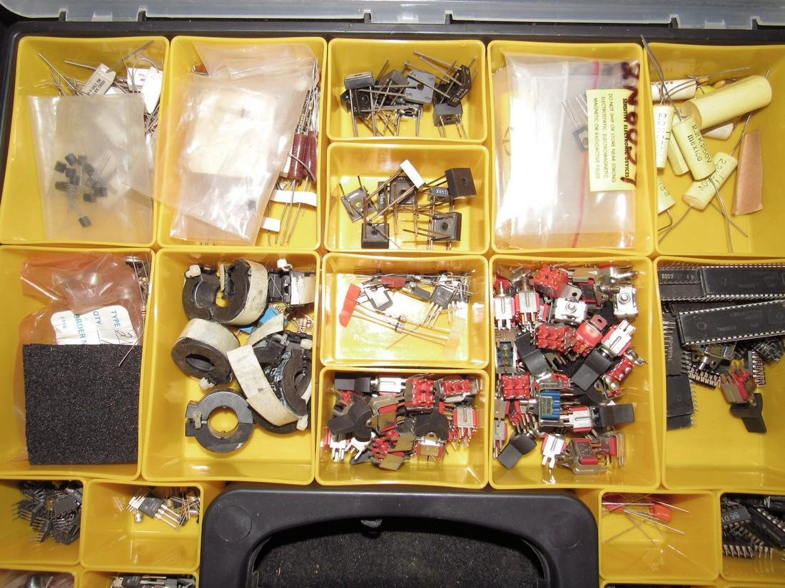 Parts / Storage Case with Electrical Components - 2
