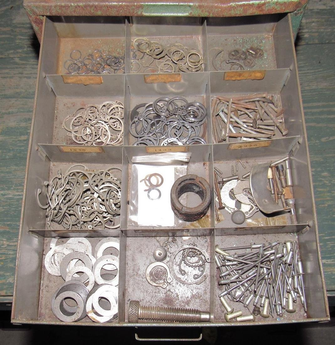 Parts Organizer Ring Clips Springs Hardware - 2