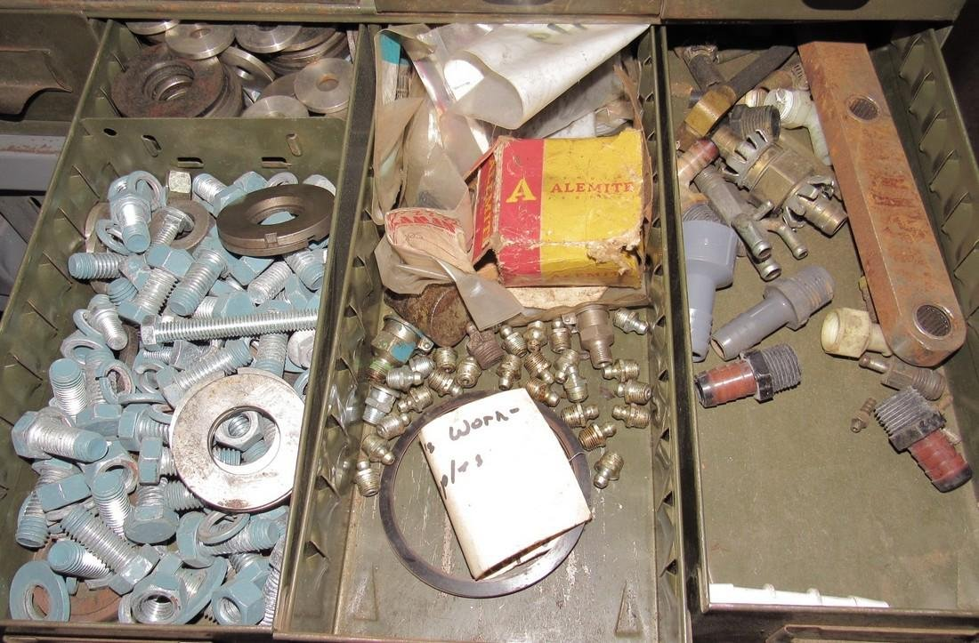Parts Cabinet & Contents - 7