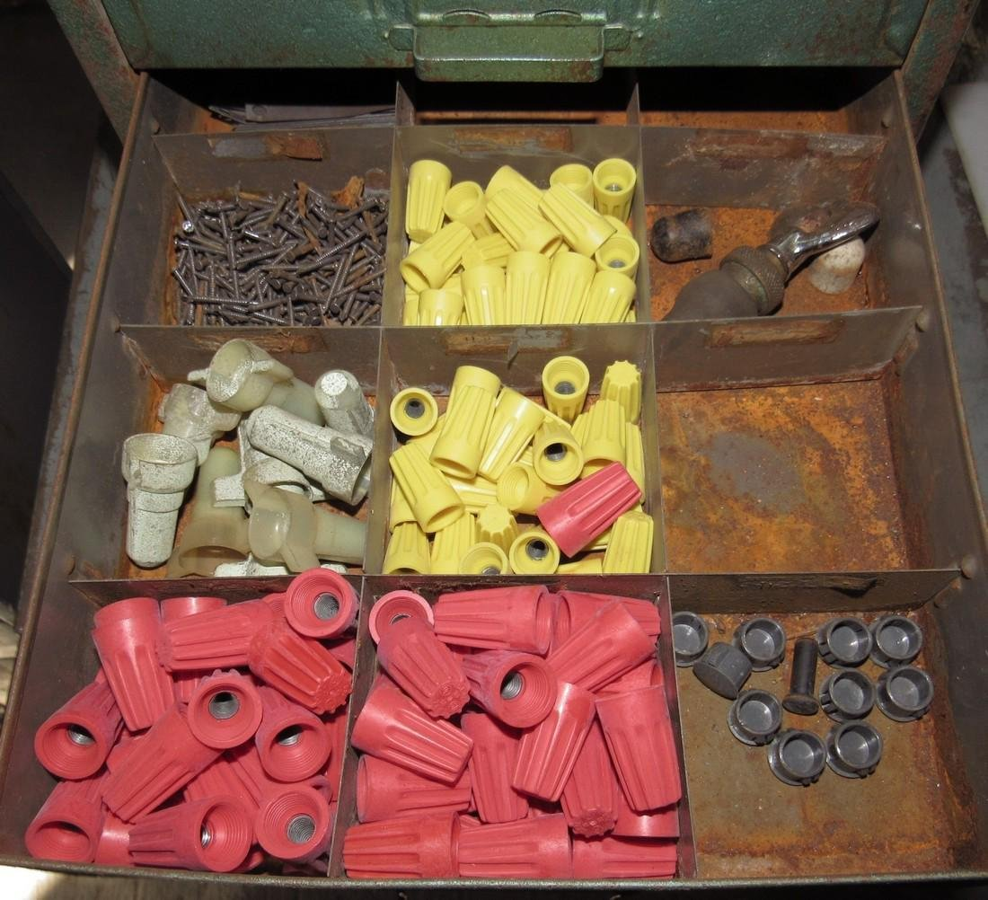 Parts Cabinet Roller Cotter Pins & Misc Hardware - 4