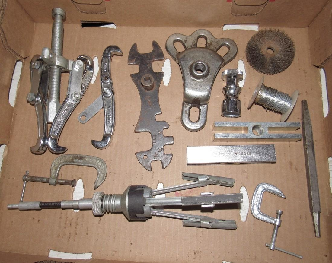 Pullers Wrenches Misc Box Lot