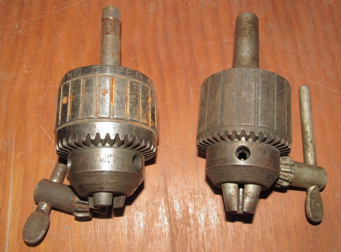 Jacobs No. 14 & No. 3 Super Drill Chucks