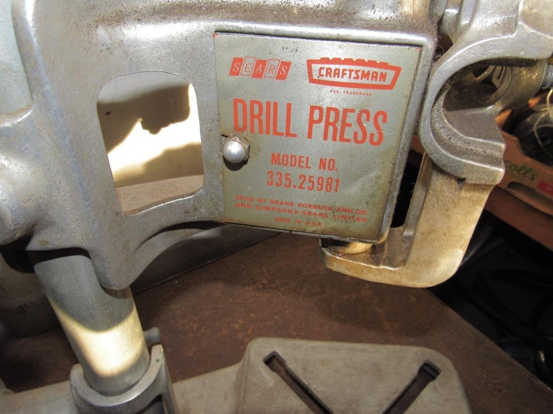 Sears Craftsman Drill Press - 3