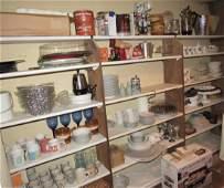 Shelf Contents Including Spode Christmas Dinnerware