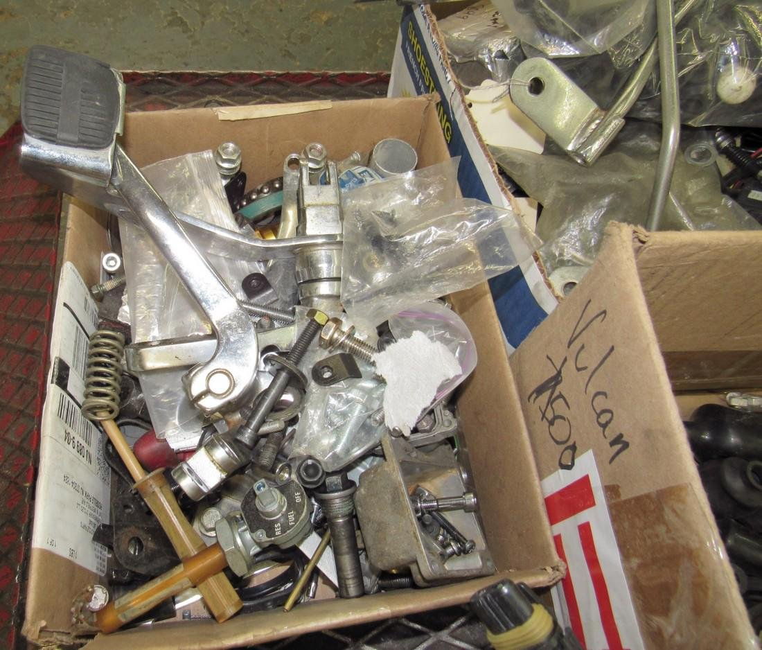 9 Boxes of Misc Used Motorcycle Parts - 4