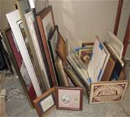 Large Lot of Misc Prints Frames Posters  Jazz Poster