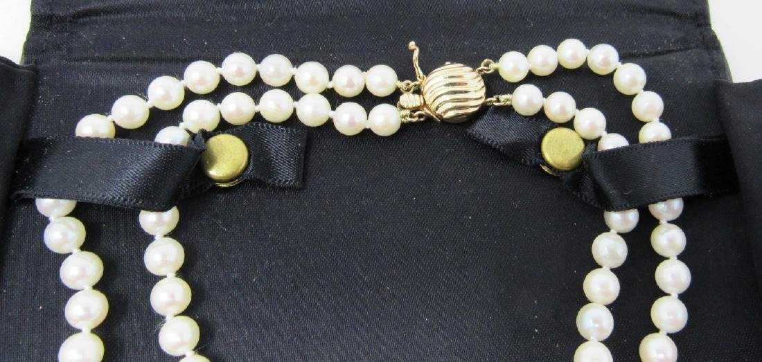 Pearl Necklace with 14K Gold Clasp - 2