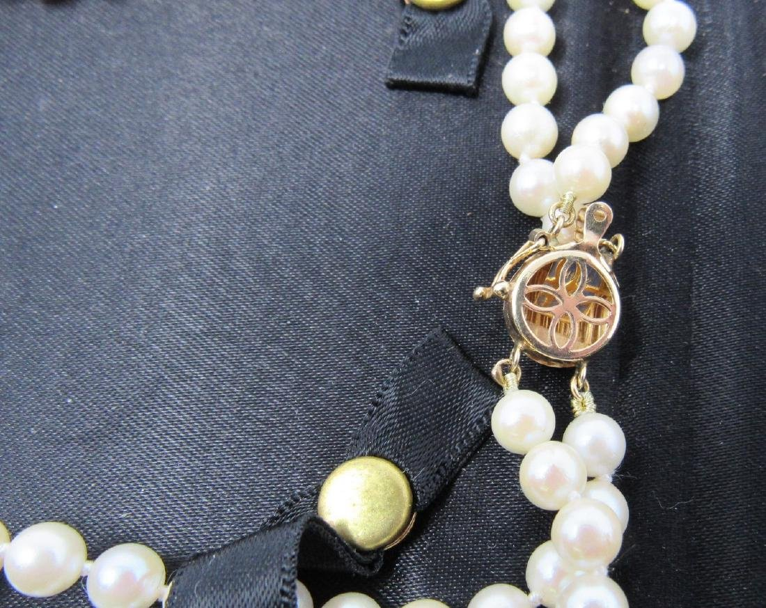 Pearl Necklace with 14K Gold Clasp - 3