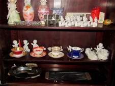 Misc Shelf Contents Cups Saucers Napkin Holders
