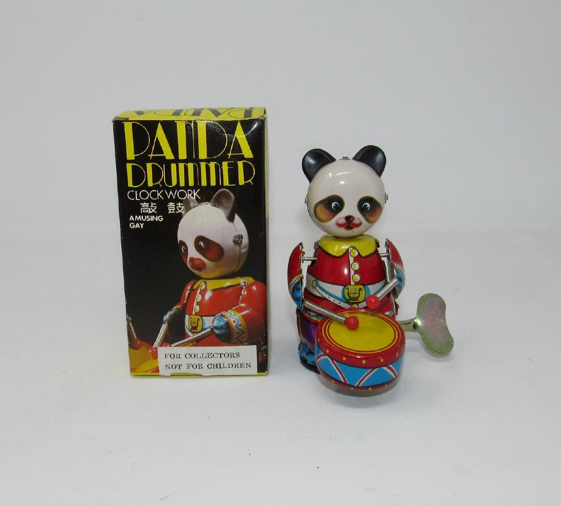 Panda Wind Up Drummer with Box
