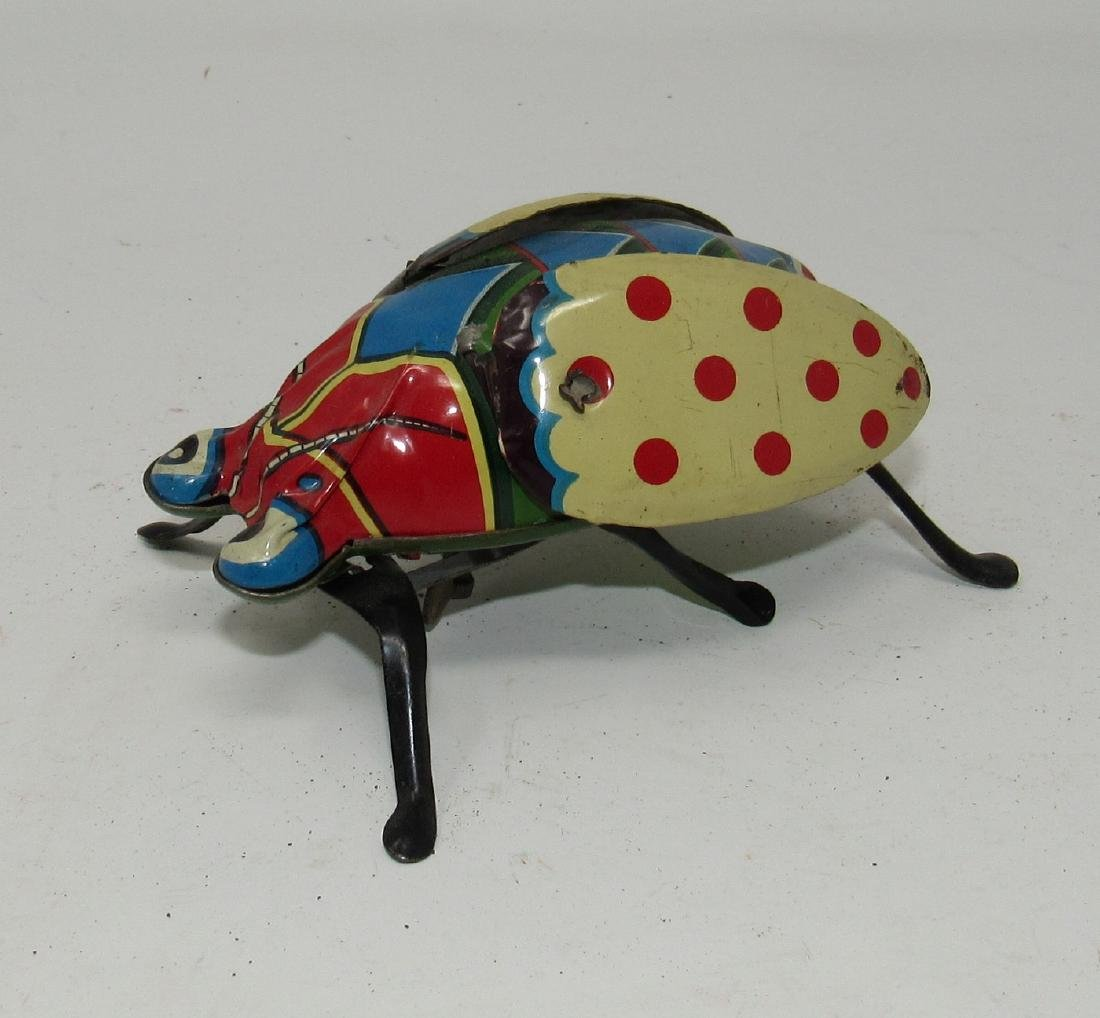Tin Japan Wind Up Beetle Toy