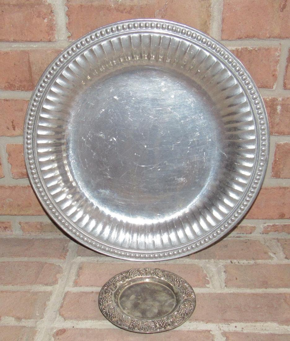 Wilton Platter and Silverplate Saucer