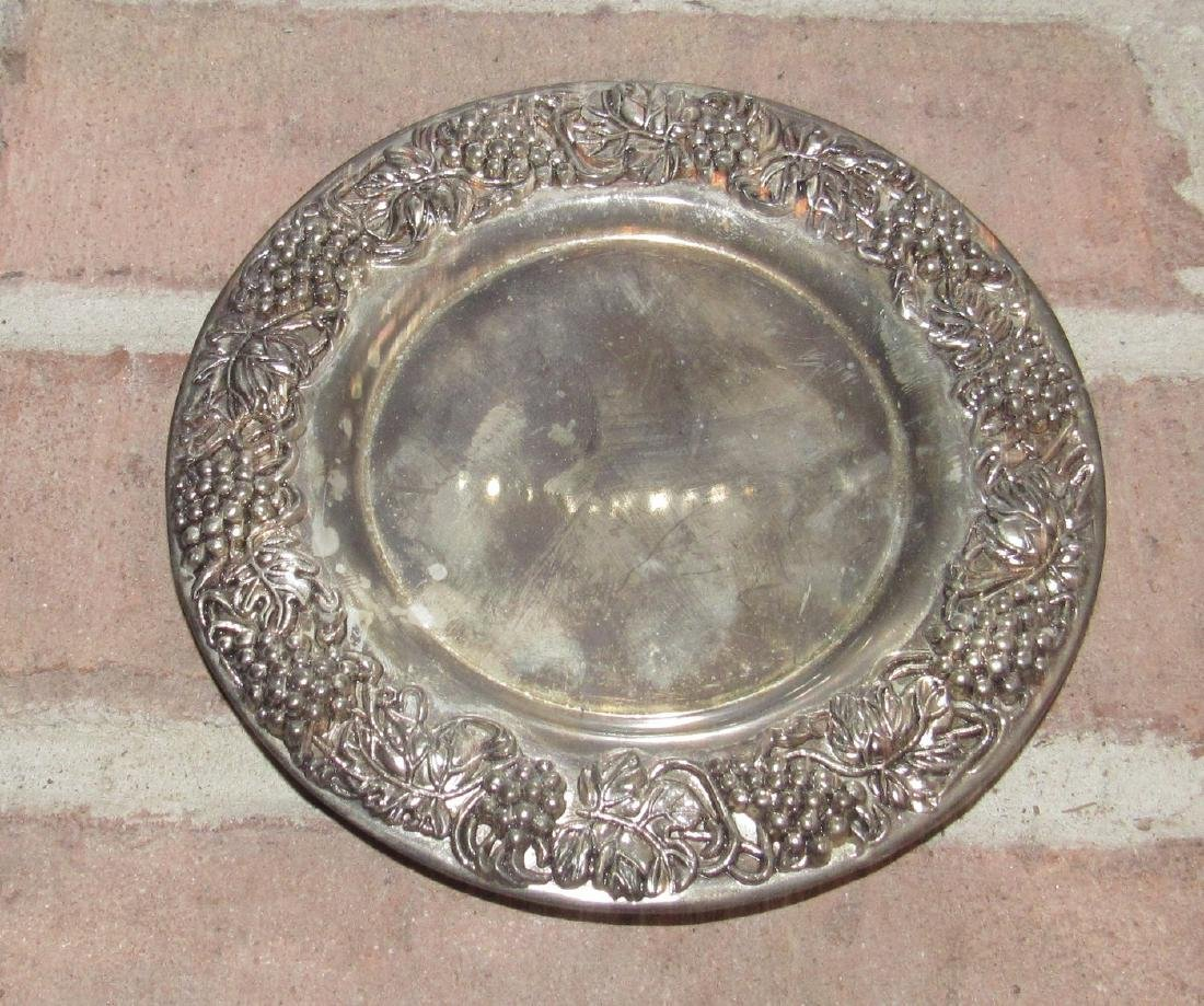 Wilton Platter and Silverplate Saucer - 2
