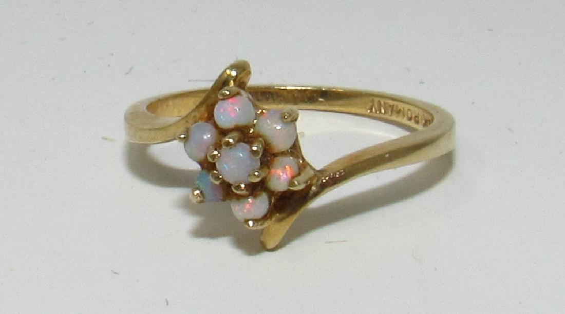 14k Gold Romany Opal Ring