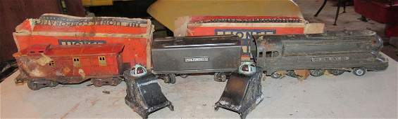 Lionel 1668 Engine Tender Caboose Lighted Bumpers