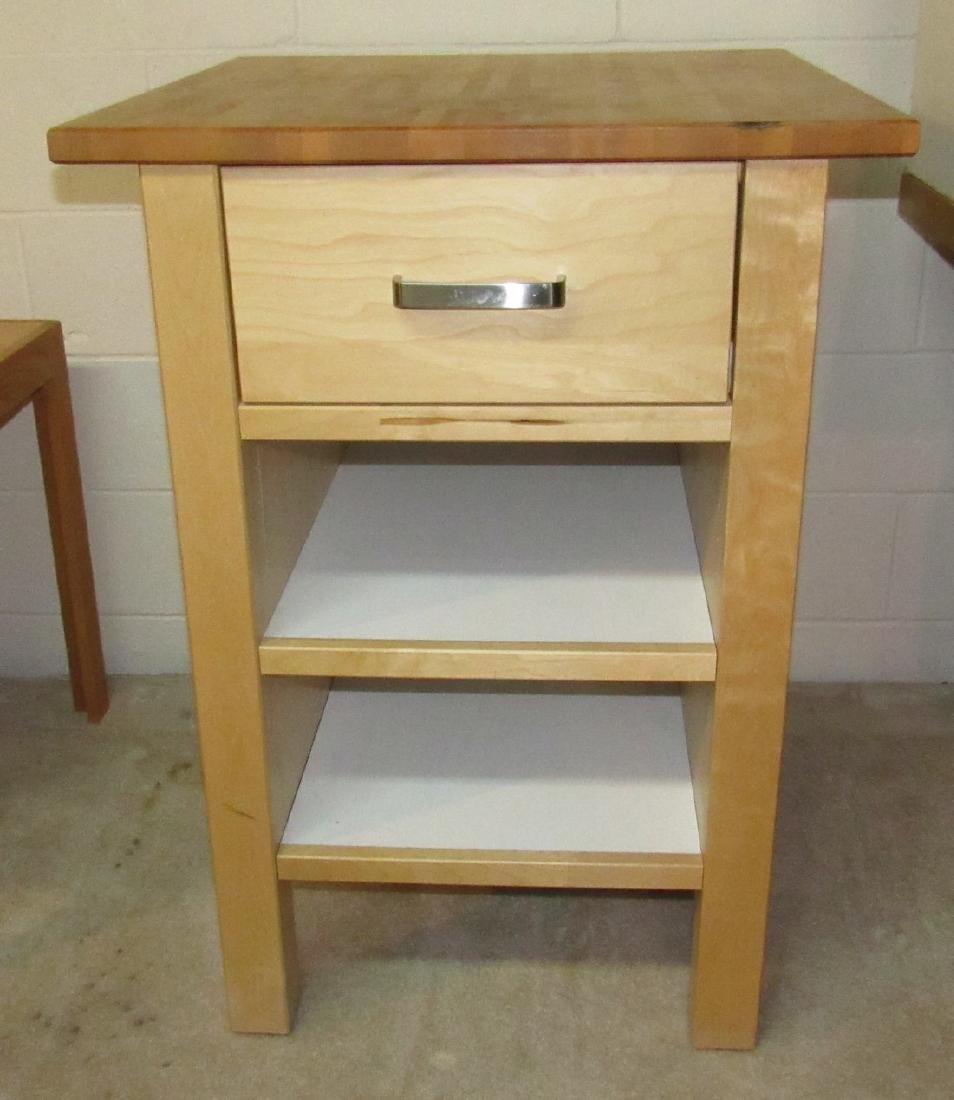 One Drawer Stand with Butcher Block Top