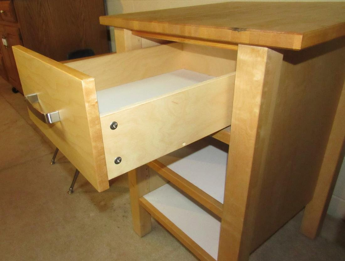 One Drawer Stand with Butcher Block Top - 3