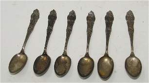 6 Murray Silver Co Childs Spoons