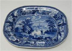 Wood Historical China View of Worcester Platter