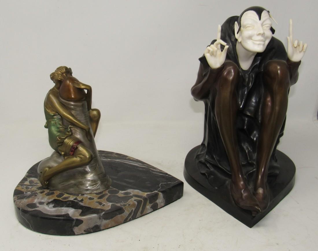 Hugger Erotic Bronze Attr Bruno Zach Art Deco Erotica
