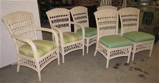 Set of 6 Wicker Chairs
