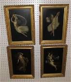 4 Oil on Board Paintings