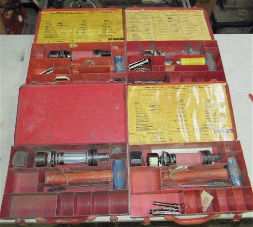 4 Hilti DX 100L/DX 100 Piston Nail Drive Tools - Jun 16