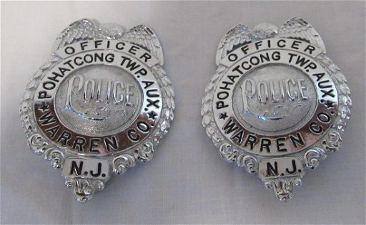 2 Pohatcong Twp Aux  Police Officer Badges