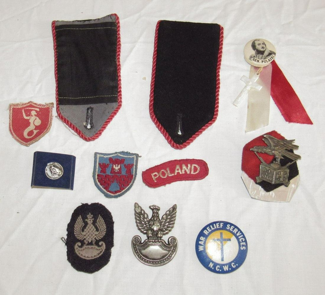 Polish Military Patches Pins Misc